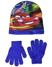 Disney Cars Kids Set of Bonnet and Glove (52cm, 2-4 Years, Blue)