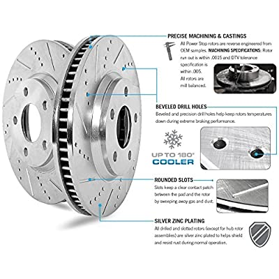Power Stop AR83087XPR Front Evolution Drilled & Slotted Rotor Pair: Automotive