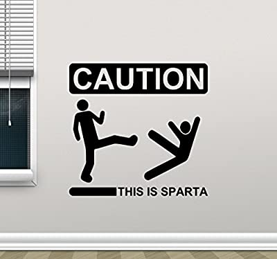 This Is Sparta Wall Decal Rome Warrior 300 Spartans Gladiator Vinyl Sticker Shield Spear Military Wall Art Nursery Modern Design Kids Room Decor Bedroom Decor Removable Wall Mural 178xxx
