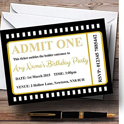 amazon com movie ticket black personalized birthday party