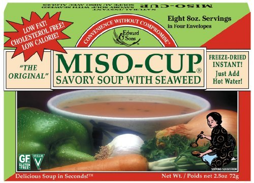 Edward And Sons Miso Cup Soup with Seaweed, 2.5 Ounce -- 12 per case.