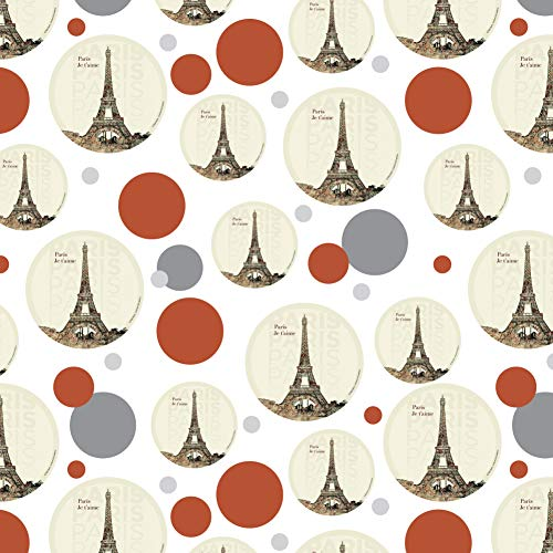 Paris, Je T'Aime I Love You Eiffel Tower City Map Premium Gift Wrap Wrapping Paper Roll