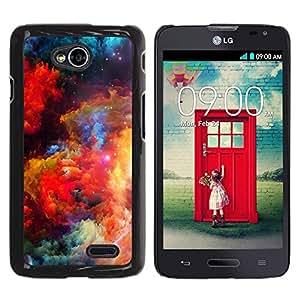 PC/Aluminum Funda Carcasa protectora para LG Optimus L70 / LS620 / D325 / MS323 Colors Universe Bright Galaxy Dust Cosmos / JUSTGO PHONE PROTECTOR