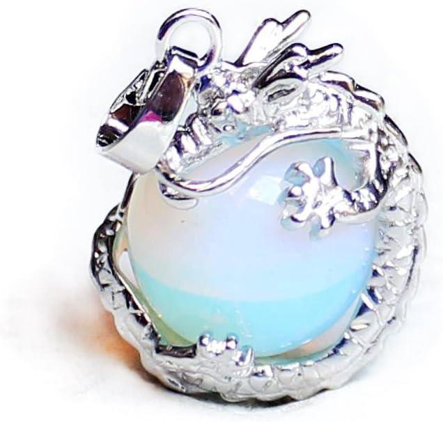 Aituo amatista Natural Tumbled Gemstone Dangle dragón alrededor de moneda Charm Bead colgante para DIY colgante