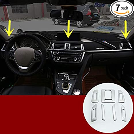 HOTRIMWORLD Interior Center Console iDrive Multimedia Button Trim Cover for BMW X5 X6 E70 E71 2010-2014