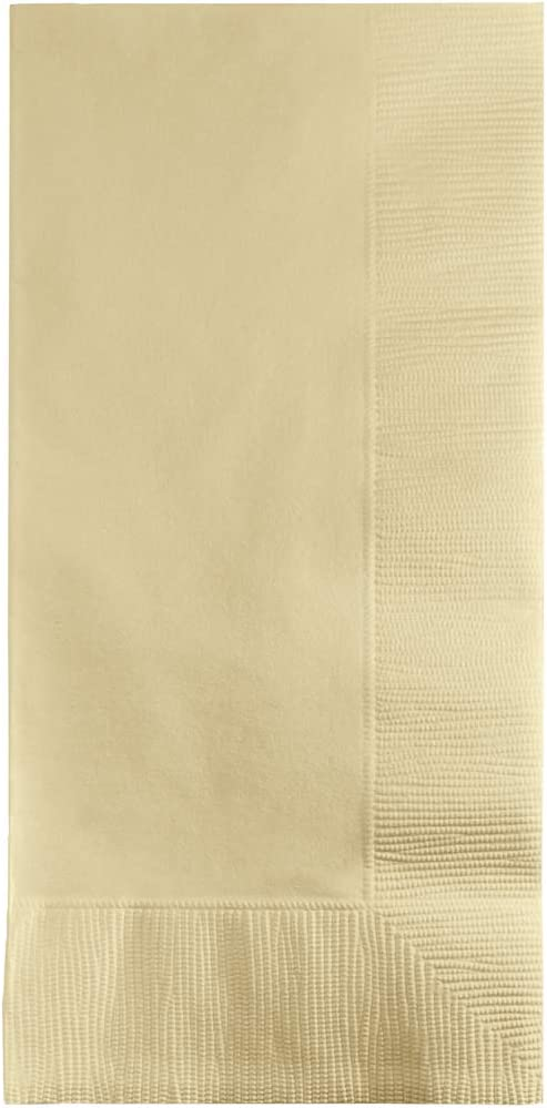 Creative Converting Touch of Color 100 Count 2-Ply Paper Dinner Napkins, Ivory , 16