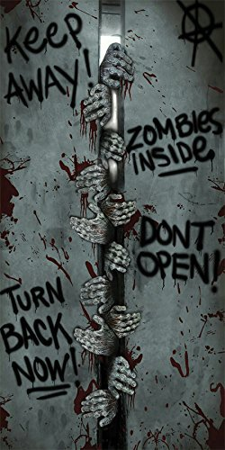 [Fun World Zombie Keep Away Horror Halloween Party Door Cover Decoration Poster] (Zombie Decoration)