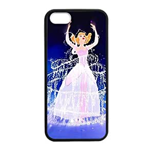 CTSLR Laser Technology Princess Cinderella TPU Case Cover Skin for Apple iPhone 5/5s- 1 Pack - Black - 4