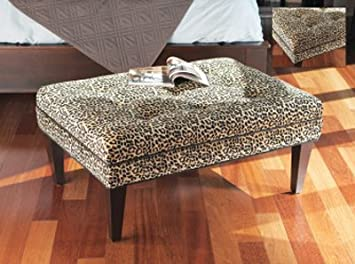 40 Snazzy Leopard Print Rectangular Ottoman Coffee Table Amazon