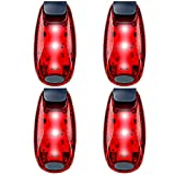 running blinking light - UMISHI 3 Modes LED Safety Lights 4 Packs Clip on Strobe Running Cycling Dog Collar Bike Tail Warning Light High Visibility Accessories for Reflective Gear