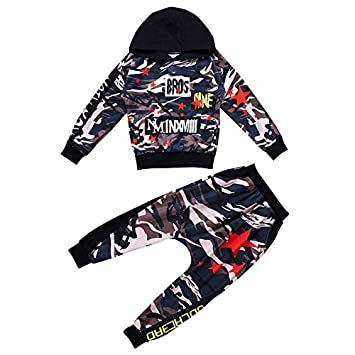 dc4938827 Moyuqi™ Children's Jazz Hip Hop Street Dance Suit Boys Camouflage Pants  Long Sleevess Autumn Costumes