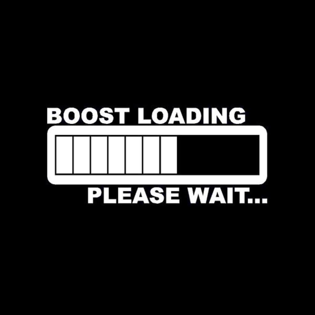 Keen Boost Loading JDM Decal Vinyl Sticker|Cars Trucks Walls Laptop|White|5.5 in|KCD426