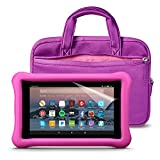 Fire 7 Kids Essentials Bundle with Fire 7 Kids Edition (Pink), NuPro Sleeve