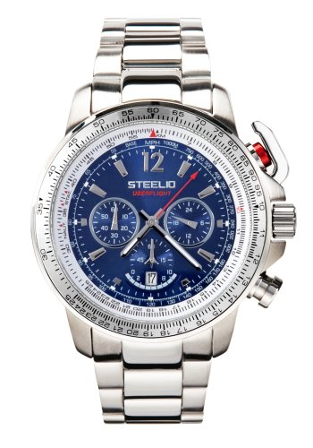 Steelio Men's Überflight Retrograde Chronograph (Royal Blue)
