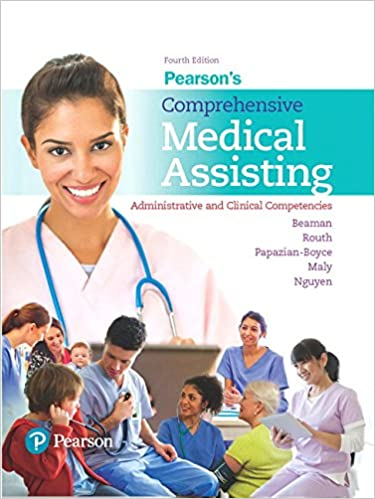 Pearsons comprehensive medical assisting administrative and pearsons comprehensive medical assisting administrative and clinical competencies 4th edition 4th edition fandeluxe Gallery