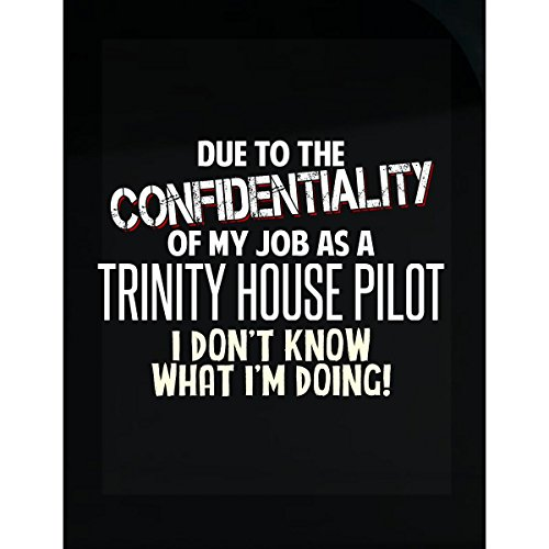 My Family Tee Trinity House Pilot Don't Know What I'm Doing Funny Coworker Gift - Sticker ()