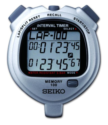 Ultrak Seiko 100 Lap Memory Timer for Interval Training by Ultrak