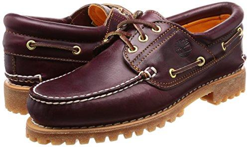 Burgundy Up Marrón del Barco Timberland Authentics 3 Hombre Eye Pull para Zapatos Classic Xz7vqw