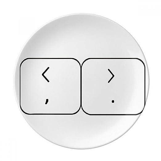DIYthinker Teclado símbolo Soportes Decorativos de Porcelana Placa ...