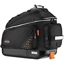 Ibera Bike Trunk Bag - PakRak Clip-On Quick-Release Bicycle Commuter Bag (IB-BA1)