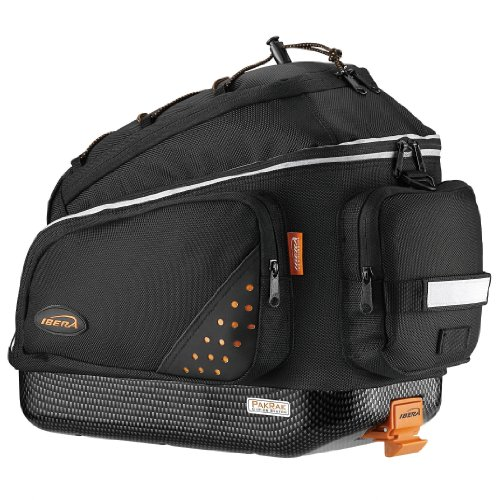Ibera Bike Trunk Bag - PakRak Clip-On Quick-Release Bicycle Commuter Bag ()