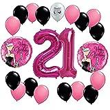 Happy Fabulous 21st Birthday Party Balloons Decorations Kit.