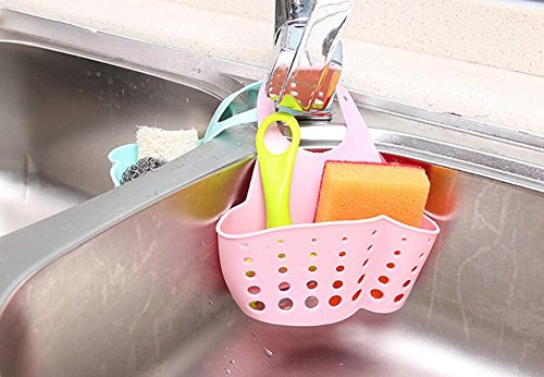 Rosa HSDDA Verstellbarer Abflusskorb zum Aufh/ängen von Waschbecken Snap-Typ-Aufbewahrungskorb f/ür K/üche und Bad