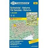 Schnalstal: Wanderkarte Tabacco 04. 1:25000 (Cartes Topograh, Band 4)