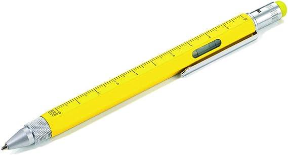 matt stylus black G2 large refill aluminium//brass yellow centimeter//inch ruler 1:20//1:50 scale Troika multitasking ballpoint pen slim