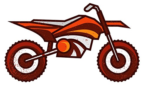 Motorcross Dirt Bike Motorcycle Vintage Retro Wall Decor Bar Decorations Sport Cutout Sign (Aluminum) (12 Inch Tall) ()
