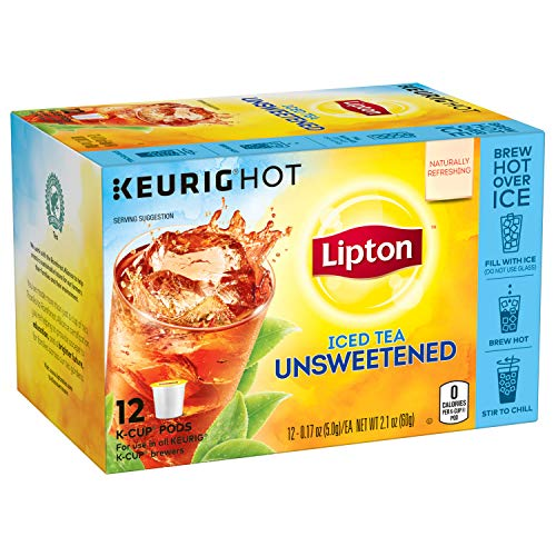 (Lipton Unsweetened Iced Tea, K-Cups, 12 ct Pack of 6)