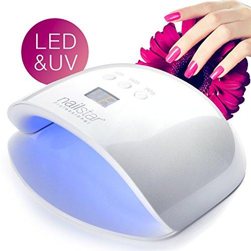 NailStar 24W UV LED Nail Lamp with 3 Timer Settings, LED Display and Auto Movement Sensor - Nail Dryer for UV Nail Polish and Nail Gel