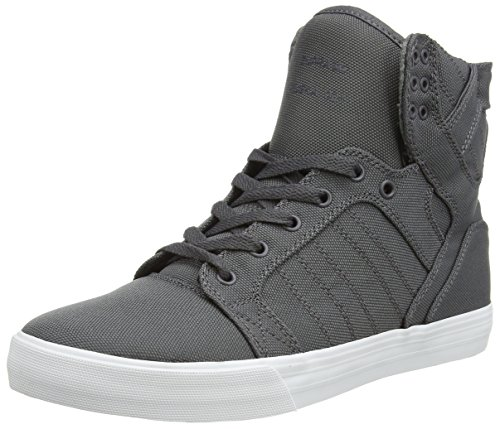 に対処する電気の使役Supra Skytop Size 9 Charcoal - White Skate Shoes