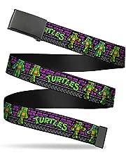 """Nickelodeon Kids' Big Buckle-Down Web Belt Ninja Turtles 1.0"""""""