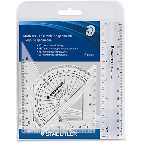 - Staedtler 4 Piece Math Set
