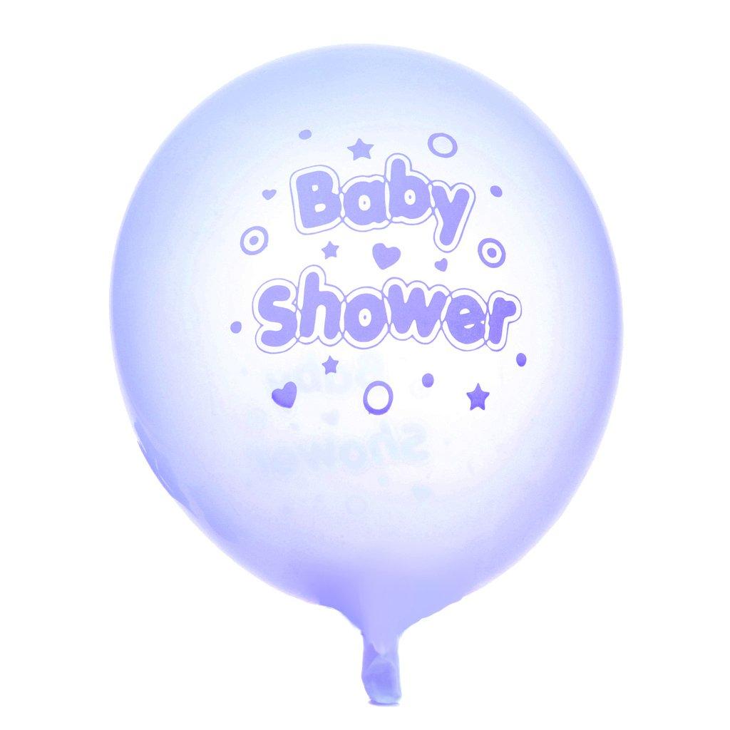 MagiDeal 10pcs Baby Shower Etoiles Coeurs Ballons en Latex Pour Décorations Fête-Bleu STK0156006689