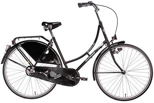 wholesale dealer a0470 93be9 Bermuda Hollandrad 28 Valencia Stadtrad Damen Holland Fahrrad Citybike  Beleuchtung Gepäckträger Rücktrittbremse (schwarz)
