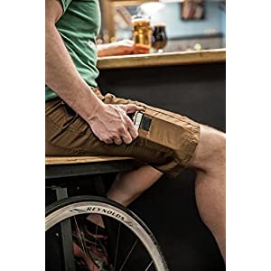 Urban Cycling Apparel The Pub Crawler - Men's Loose-Fit Bike Shorts For Commuter Cycling or Mountain Biking, With Secure Pockets (2XL, Brown - With Premium Antibacterial G-TEX Padded Undershorts)