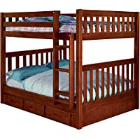 Cambridge 98905FFDR-DC Parkview Bunk Bed with Storage Children's Frames, Full over Full
