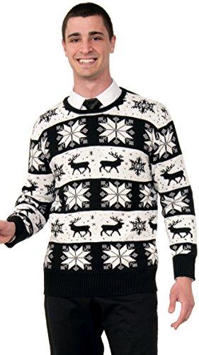 Forum Novelties Men's Plus-Size Snow Drift Novelty Christmas Sweater, Multi, XX-Large -