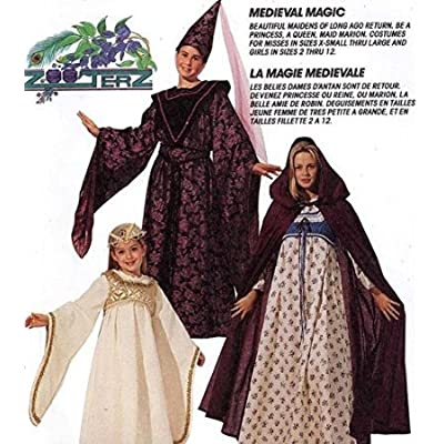 médiéval Medieval Maid Fancy Dress Costume Femmes