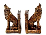 Replica Antiques ART Deco French Bronze Howling Wolf Book Ends Bookends Sculptures