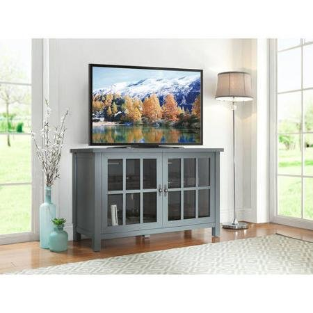 TV Cabinet With Doors Enclosed Red Media Storage Console She