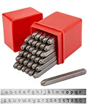 PandaHall Elite Iron number Punch Letter Alphabet A~Z and Number 0~9 Seal Stamps For Pendant Making
