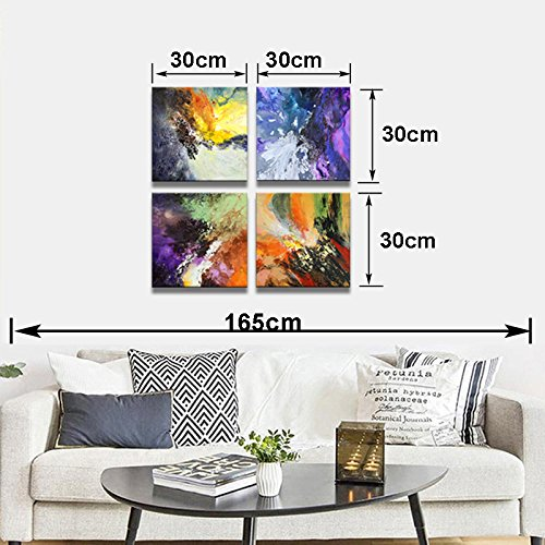 Sunrise Art-Canvas Prints Original Colorful Abstract Painting on Canvas Modern Abstract Cosmos Canvas Art for Living Room by SUNRISE ART (Image #9)