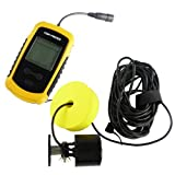 1 X Portable Fish Finder with Round Sonar Sensor LCD display with LED back-lighting