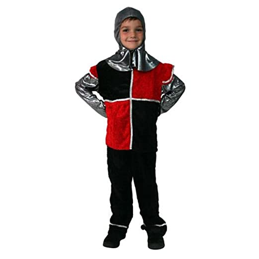 Black & Red Knight Dress-Up Set Size 6/8