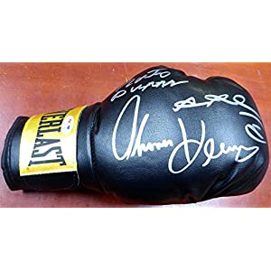 3 Boxing Greats Autographed Boxing Glove Leonard Hearns Duran Lh 112583 PSA/DNA Certified Autographed Boxing Gloves
