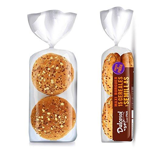 DULCESOL 🍔😋🌾 Pan Burguer 15 Cereales - 4 unidades 🍔😋🌾: Amazon.es: Alimentación y bebidas