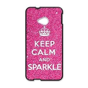 Keep Calm And Sparkle Black htc m7 case